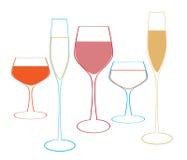 Glas alkoholisches Getränk Stockfotos