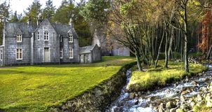 Glas-allt-Shiel by the shore of Loch Muick in Aberdeenshire, Scotland stock images
