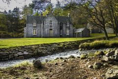 Glas-allt-Shiel by the shore of Loch Muick in Aberdeenshire, Scotland stock image