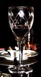 Glas & Wijn Royalty-vrije Stock Fotografie