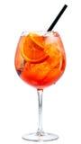 Glas aperol spritz Cocktail lizenzfreie stockfotografie