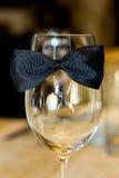Glas auf dem Tisch Stockbilder
