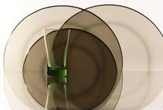 Glas auf dem weißen Hintergrund Lizenzfreies Stockfoto