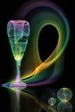 Glas auf einem abstrakten Hintergrund Stockbilder