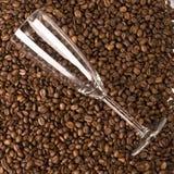 Glas auf Kaffee Lizenzfreies Stockbild