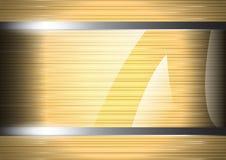 Glas auf Metallhintergrund Lizenzfreie Stockfotos
