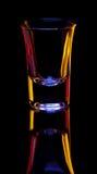 Glas auf Schwarzem Lizenzfreie Stockfotos