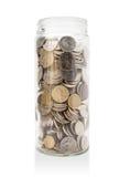 Glas australische Münzen stockfotografie