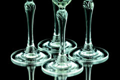 Glas av Champagne i closeup Arkivbilder