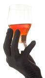 Glas bernsteinfarbig-braune Flüssigkeit lizenzfreie stockfotos