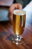 Glas bier Royalty-vrije Stock Foto's