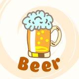 Glas Bier. Stockfoto