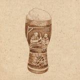 Glas bier met schuim Royalty-vrije Stock Foto's