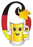 Glas bier met tekens Royalty-vrije Stock Afbeeldingen