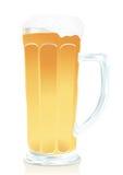 Glas Bier mit Schaumgummi vektor abbildung