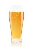 Glas Bier mit Schaumgummi und Phiolen lizenzfreie abbildung