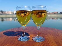 Glas bier stock foto's