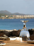 Glas bij Restaurant stock foto's