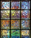 Glas-blokken Stock Foto