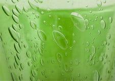 Glas - bolle di aria Immagine Stock