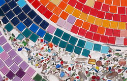 Glas and ceramic mosaic Royalty Free Stock Images