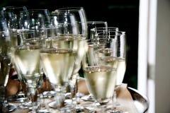 Glas champagne Royalty-vrije Stock Foto's