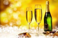 Glas champagne Stock Foto's