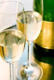 Glas champagne Royalty-vrije Stock Afbeeldingen