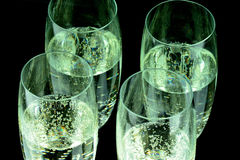Glas of Champagne in closeup Royalty Free Stock Photography
