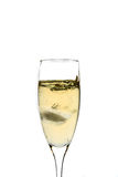 Glas champagne met ijs Royalty-vrije Stock Afbeelding