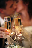 Glas Champagner Stockfotos