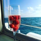Glas Champagner Lizenzfreies Stockfoto
