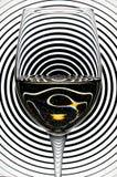 Glas Champagner in einem Schwarzweiss-Hintergrund Lizenzfreie Stockbilder