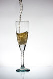 Glas champange Stockbild