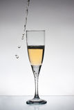 Glas champange Lizenzfreie Stockfotos