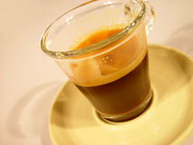 Glas of Coffee. Espresso in a Glas Royalty Free Stock Image