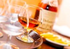Glas cognac Royalty-vrije Stock Fotografie