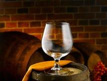 Glas cognac royalty-vrije stock foto