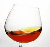 Glas Cognac Royalty-vrije Stock Afbeeldingen