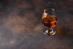 Glas cognac of whisky royalty-vrije stock foto's