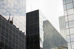Glas Collectieve Gebouwen Stock Foto's