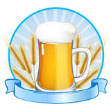 Glas con birra Fotografie Stock