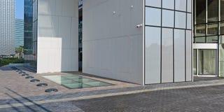 Glas concreet graniet en staal - moderne materialen voor cons. stock foto's