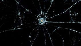 Glas criqué cassé Image stock