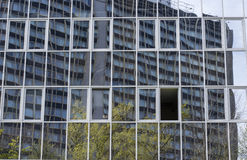 Glas de Bouwbezinning Stock Foto
