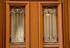 Glas in de deur Stock Fotografie