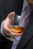 Glas de gevulde wisky. royalty-vrije stock fotografie