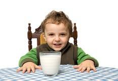 Glas de la leche fotos de archivo libres de regalías
