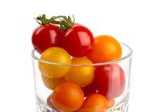 Glas de tomates Imágenes de archivo libres de regalías