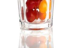 Glas de tomates Fotografía de archivo